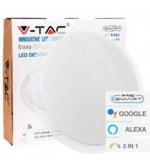 V-Tac profilo in alluminio per strip Led lunghezza 2 metri senza alette con colore bianco