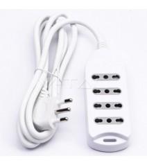Profilo in Alluminio Colore Bianco 2M copertura opale L 17.2mm / A 14.4mm