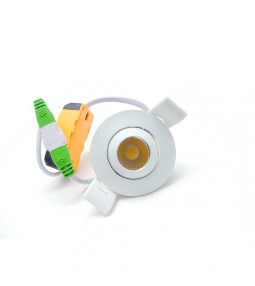 CFG Ventilatore a Soffitto 130 cm 4 Pale con Luce e Telecomendo St. Barth Cromo