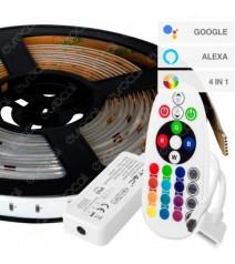 V-Tac Aspirapolvere Giroscopica Robotizzata Compatibile con Amazon Alexa e Google Home Colore Nero
