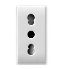 V-Tac Profilo in alluminio per strip Led largo opale 1 metro senza alette colore alluminio
