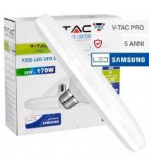 V-Tac Proiettore 50W Led Corpo Grigio 50W 3000K IP65